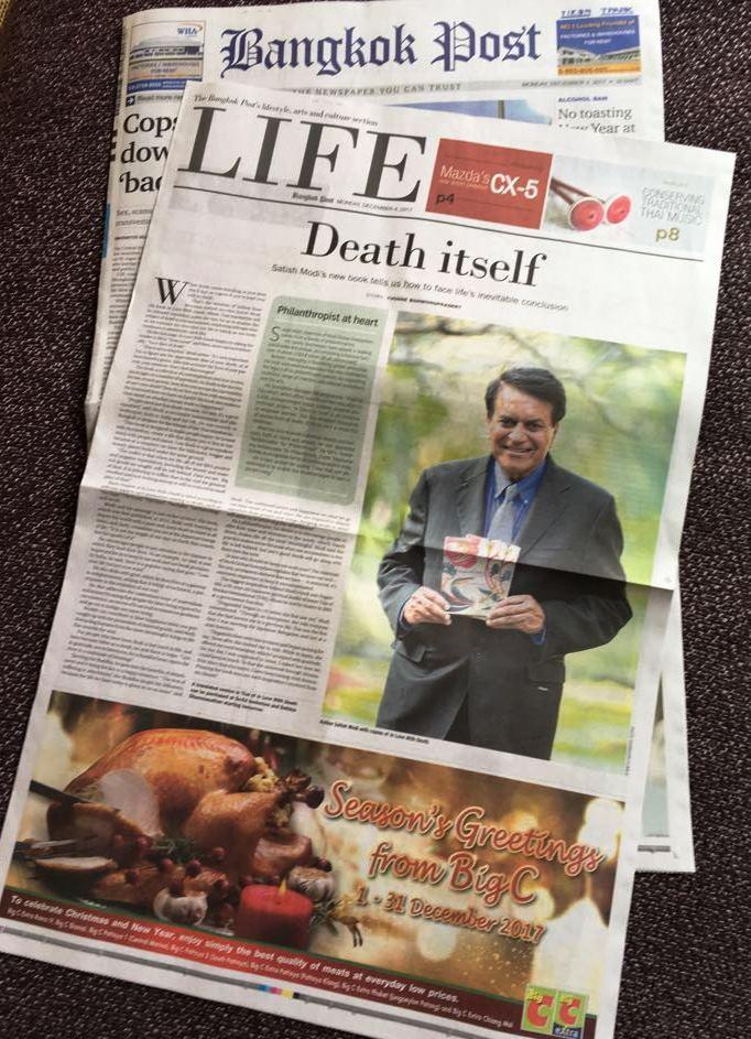 Satish Modi delivered Talk on Art of Dying in Bangkok